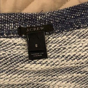 J. Crew Tops - J crew marled jeweled sweatshirt blue